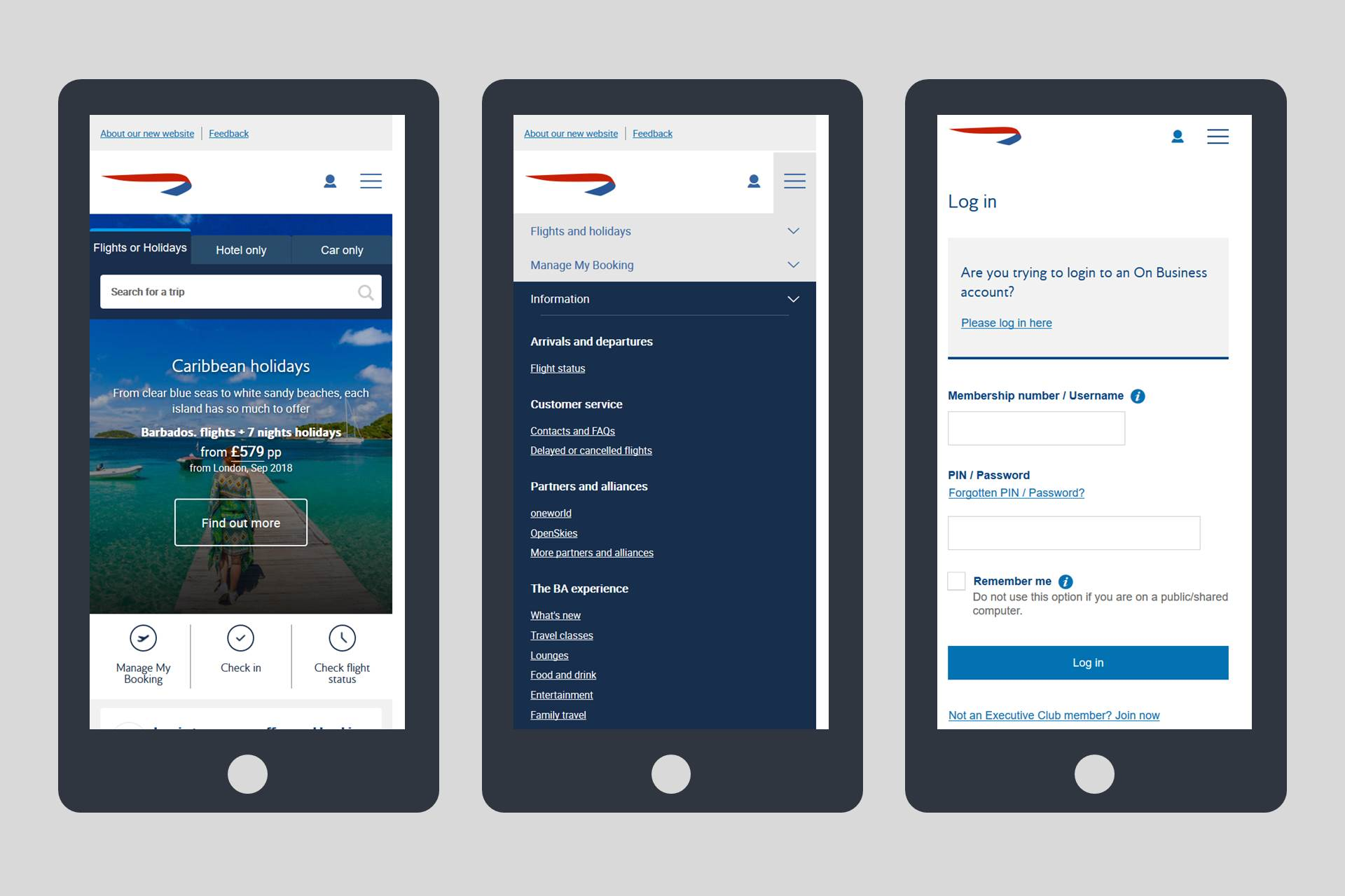 Mobile Optimised Website for British Airways