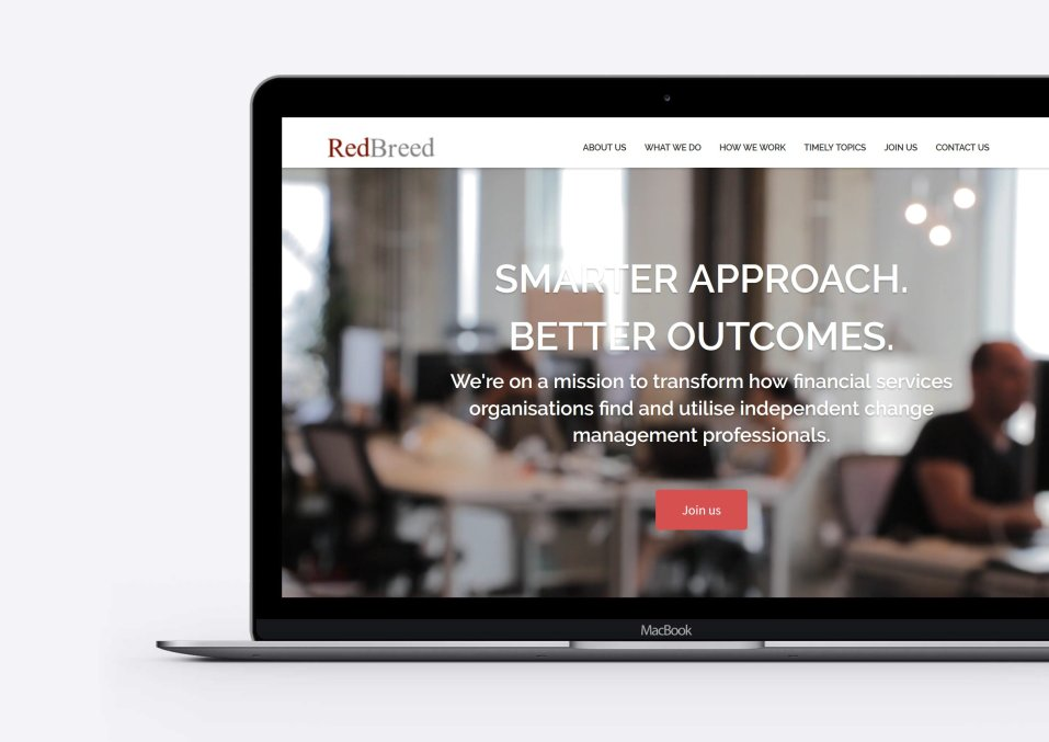 RedBreed Consulting website by Oxford Digital. WordPress Specialists.