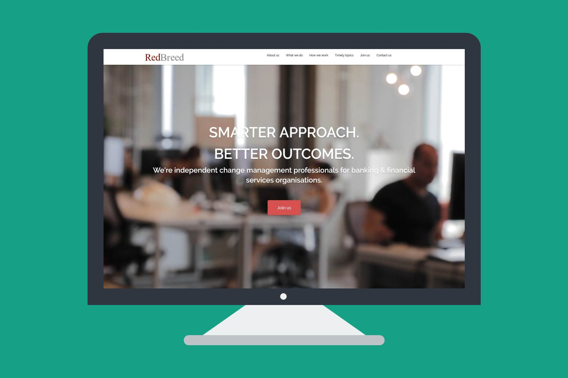 A responsive design WordPress website for RedBreed Consulting