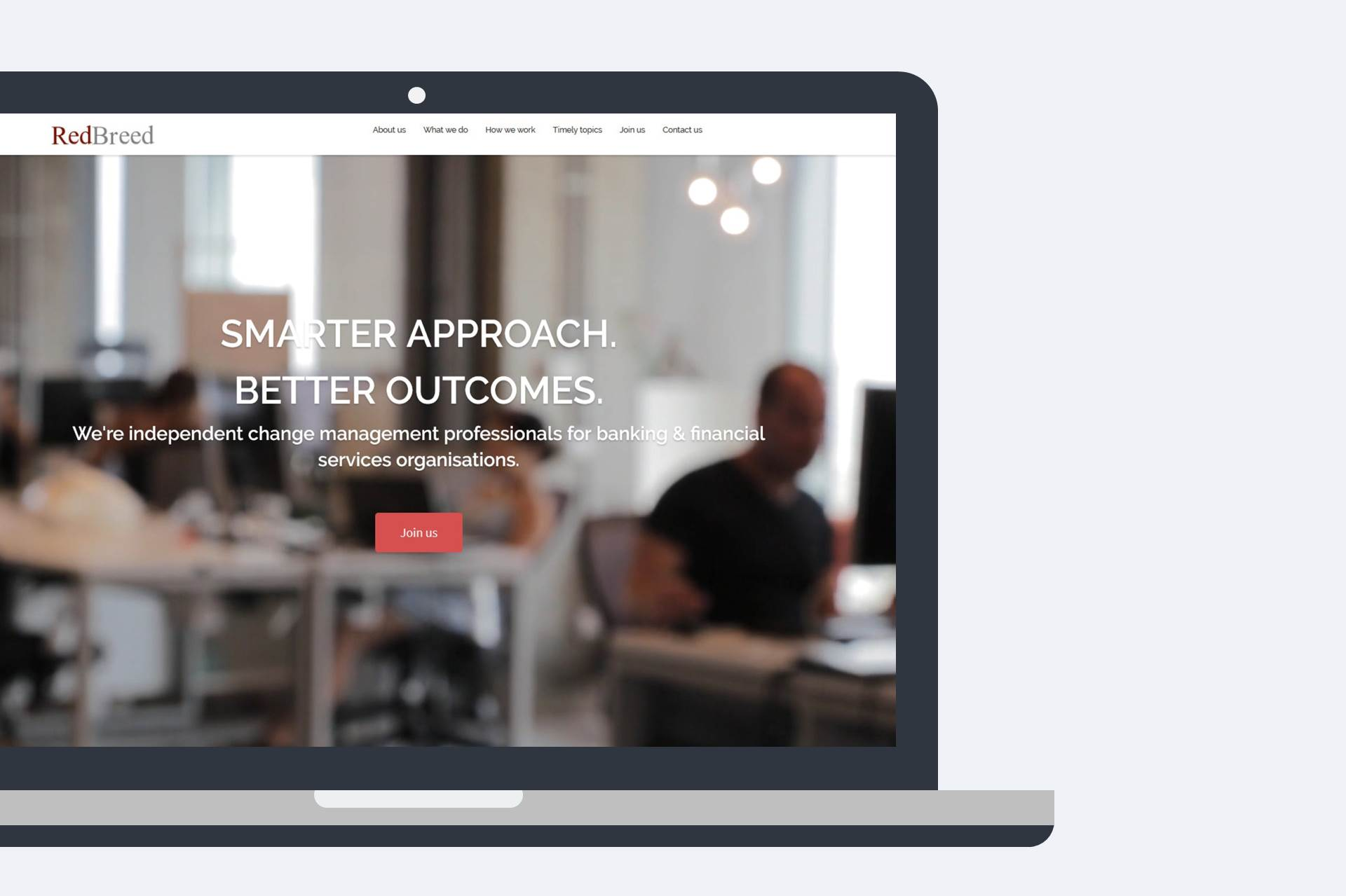 A responsive design WordPress website for RedBreed Consulting by Oxford Digital