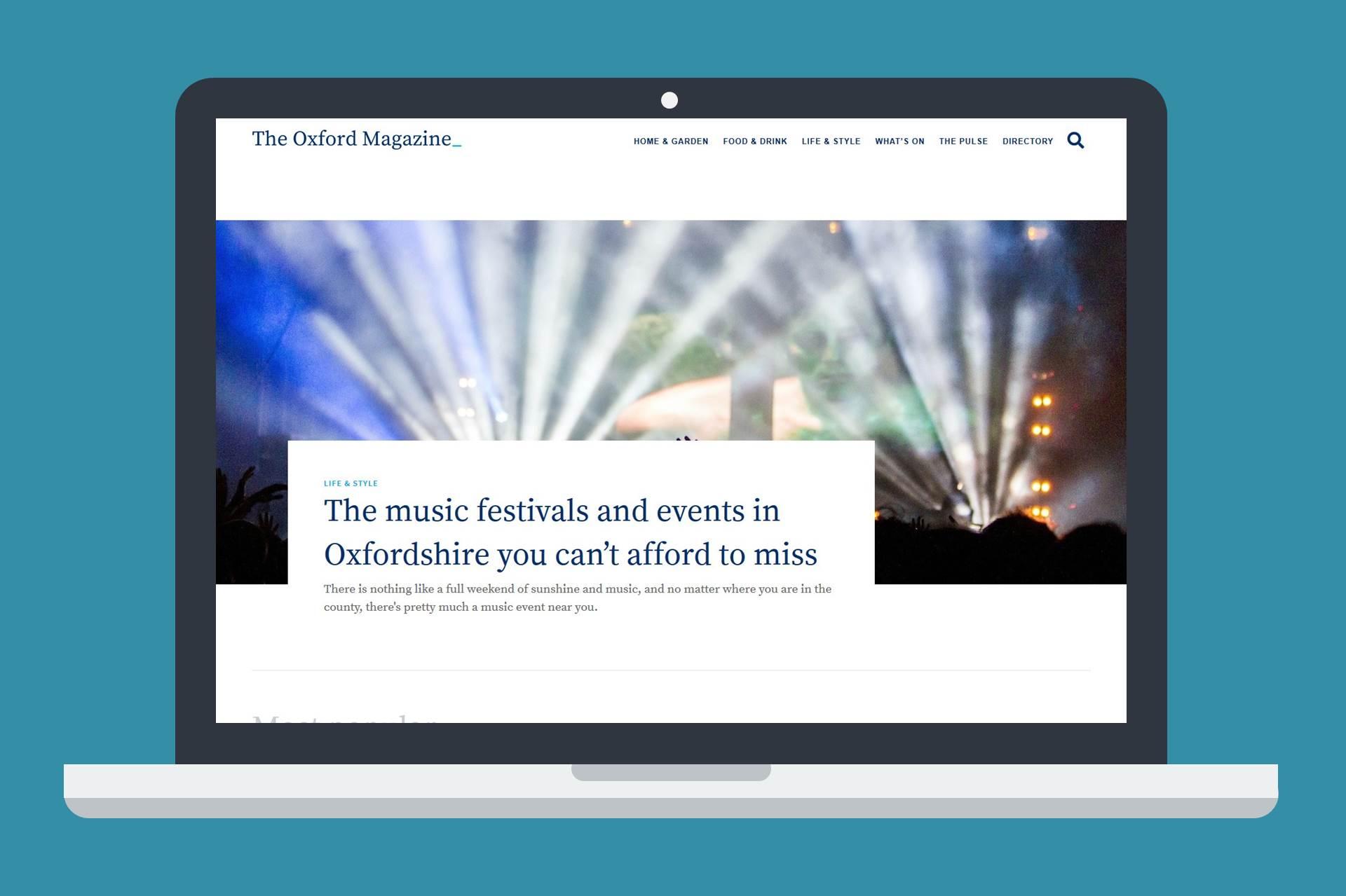 Forward-looking web design and custom WordPress development for The Oxford Magazine.