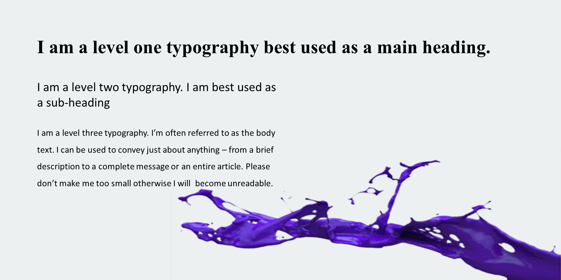 Visual hierarchy in website design image 2